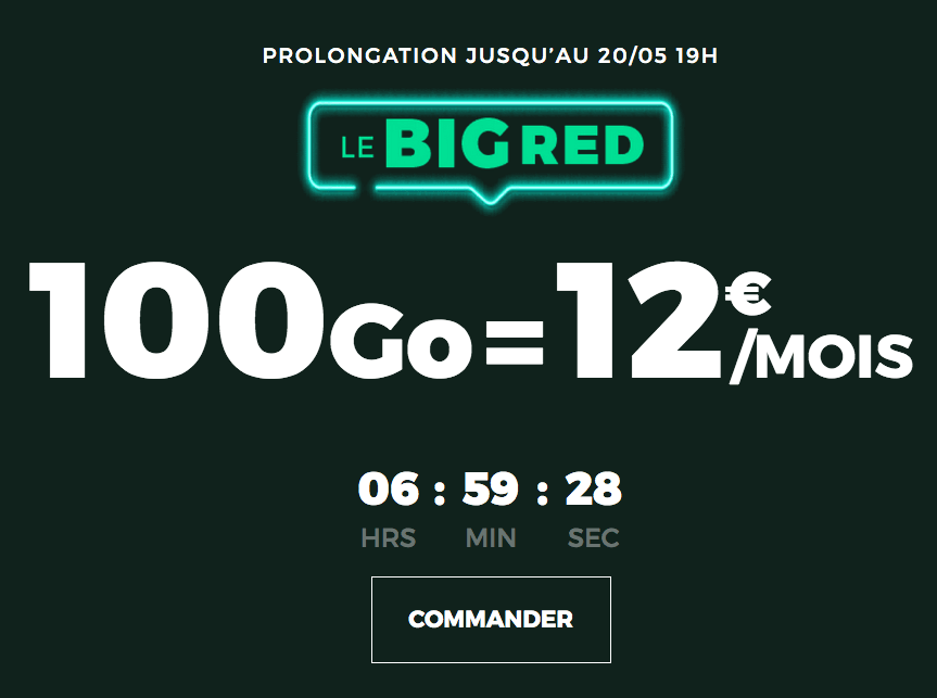 Le forfait RED 100 GO
