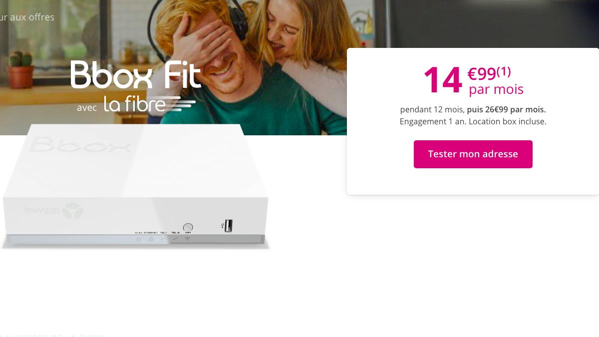 La Bbox Fit est en promo pendant un an.