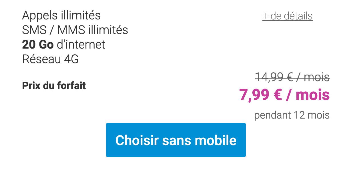 Forfait Coriolis Telecom 20 Go.
