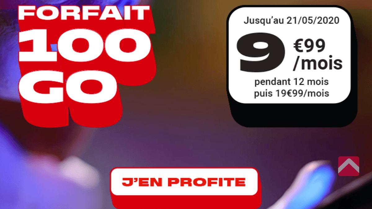 forfait 100 Go NRJ Mobile promo