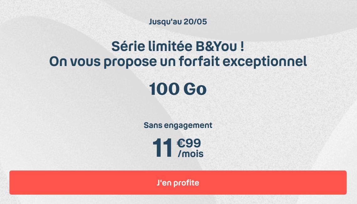 La série limitée 100 Go de B&YOU