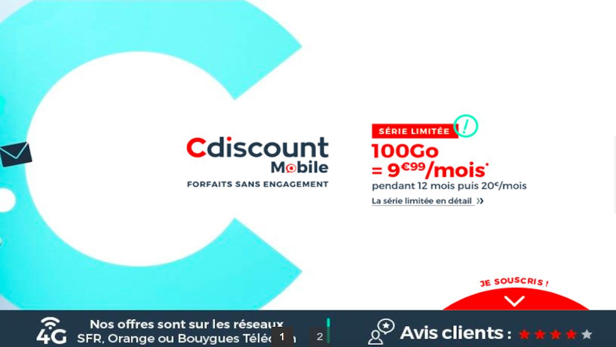 Le forfait pas cher de Cdiscount Mobile en promotion jusqu'au 11 mai
