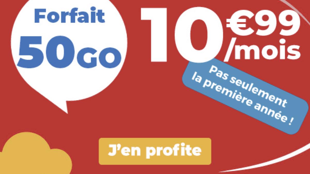 Le forfait en promo avec 50 Go d'Auchan Telecom