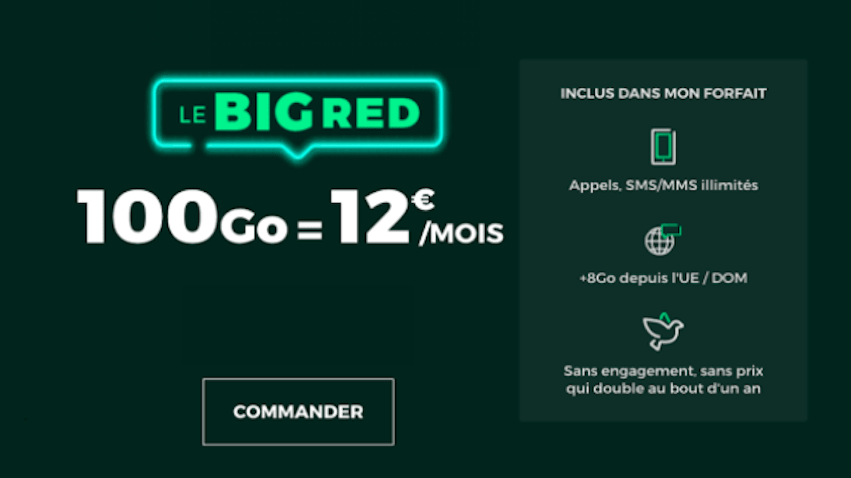 Forfait promo BIG RED by SFR
