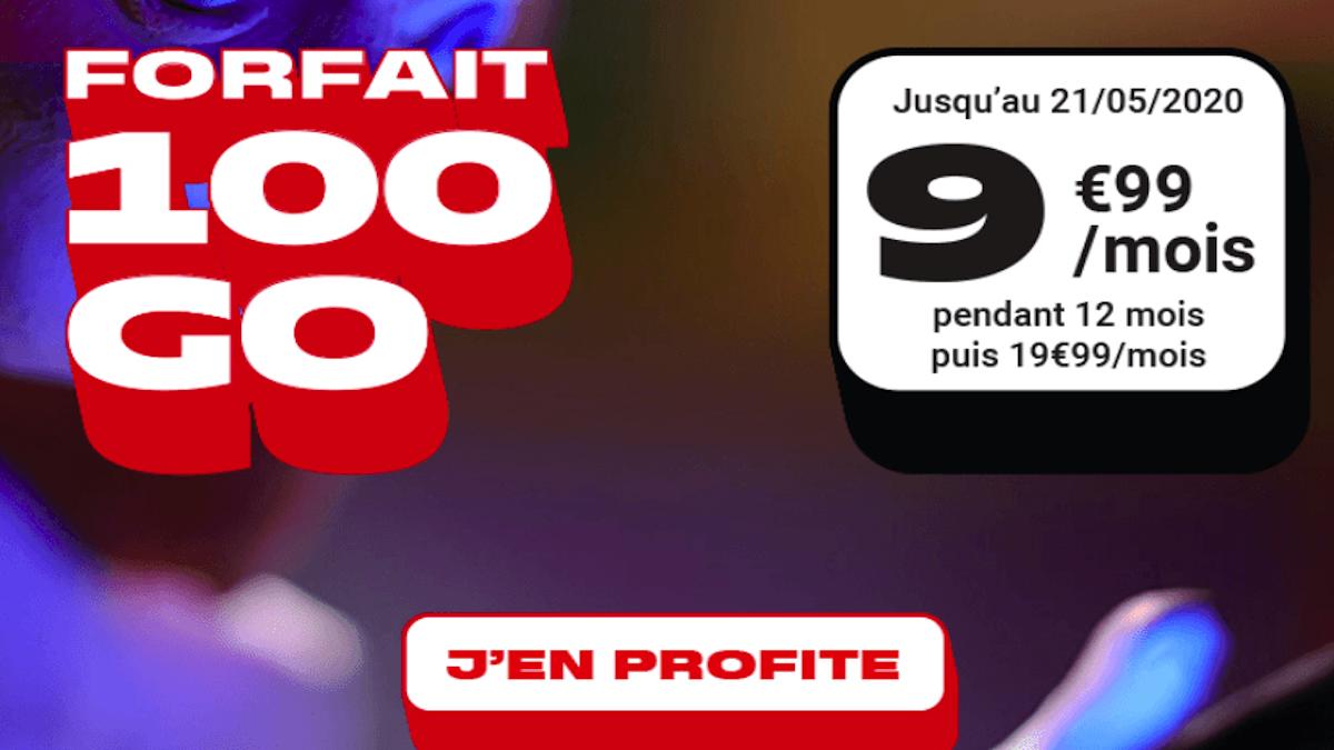 NRJ Mobile cheap mobile plan 100 GB