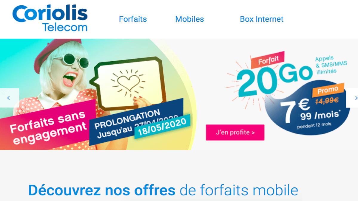 forfait pas cher Coriolis Telecom