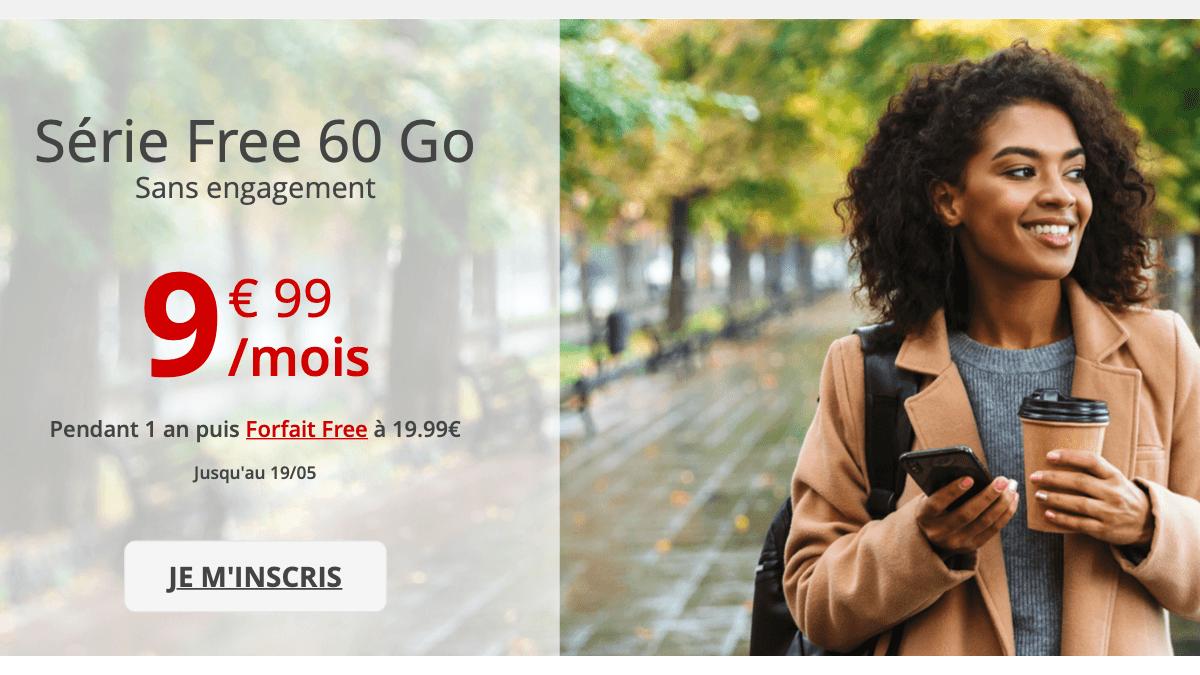 Le forfait en promo de Free mobile est à 9,99€ par mois.