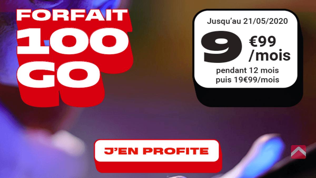 forfait en promo 100 Go NRJ Mobile