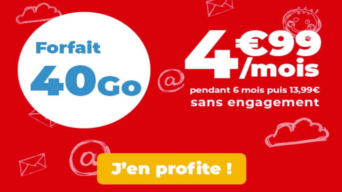 Forfait en promo Auchan Telecom 40 Go