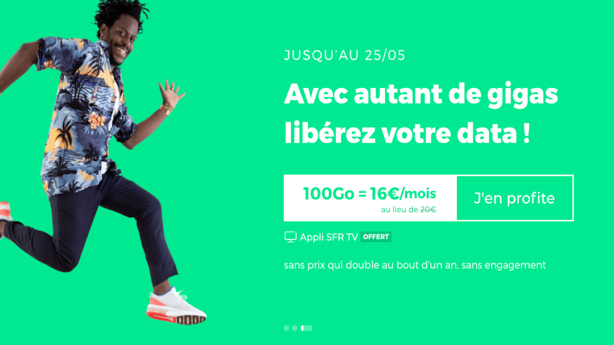 forfait RED by SFR 100 Go remisé