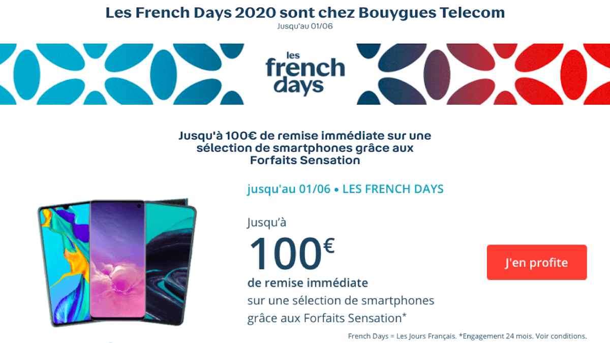 French days Bouygues Telecom forfait Sensation