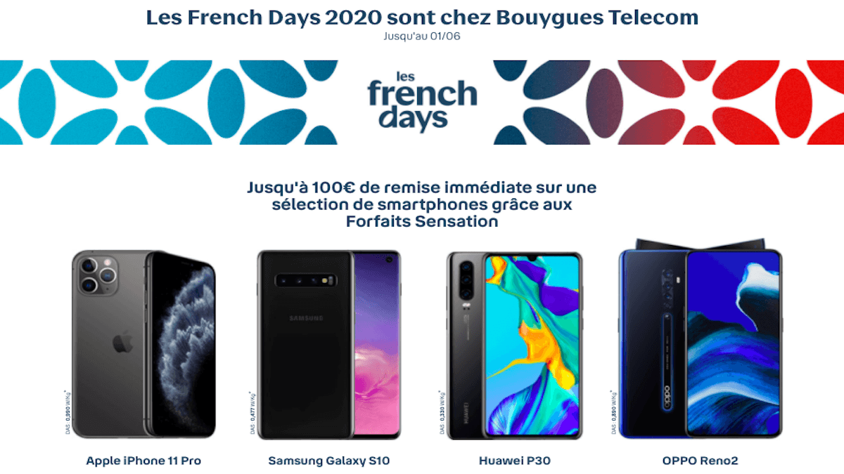 French Days promo smartphone Bouygues