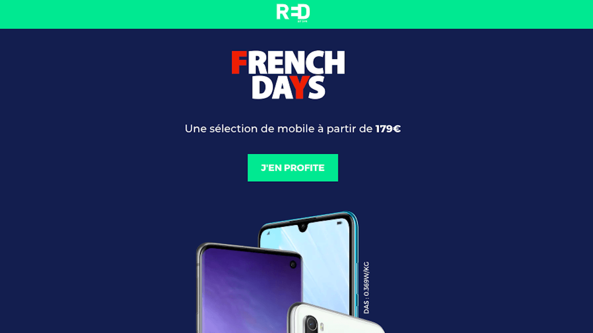 promo smartphones French Days RED by SFR