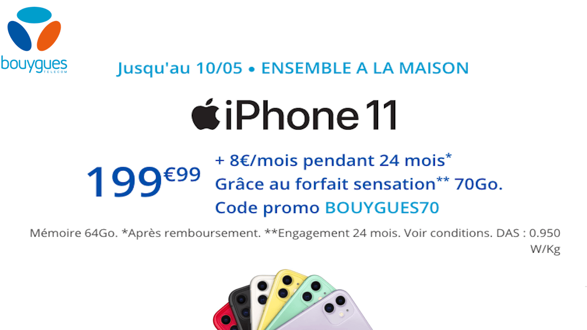code promo iPhone 11 Bouygues Telecom