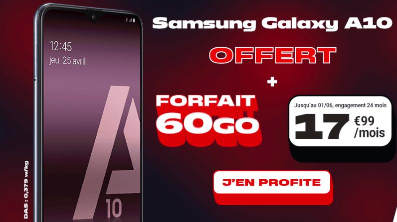 le forfait pas cher 60 Go avec Samsung