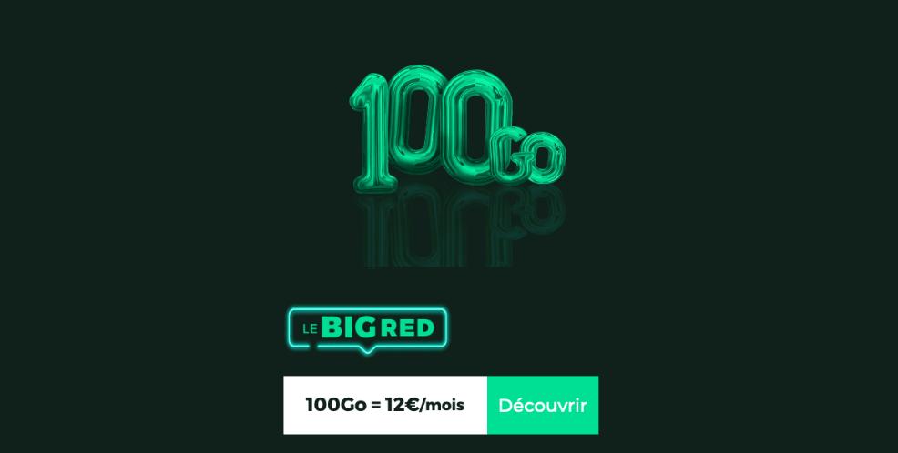 Le forfait 100 Go de RED