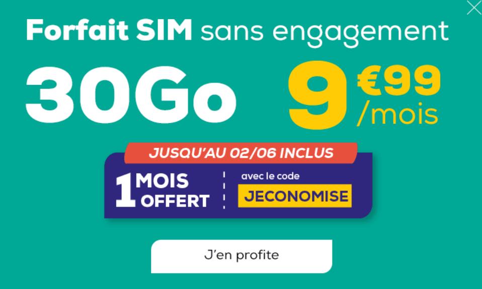 le forfait 4G en promo de la poste mobile