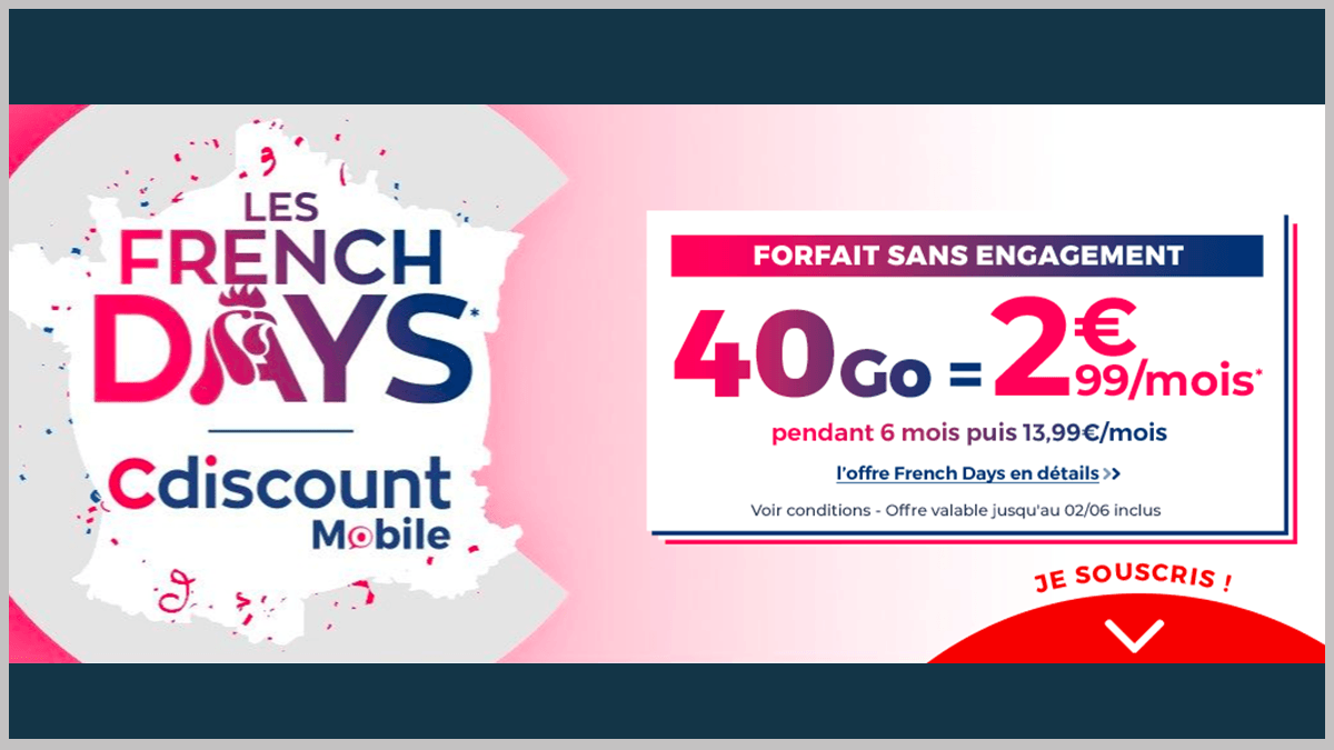 Cdiscount Mobile avec French Days