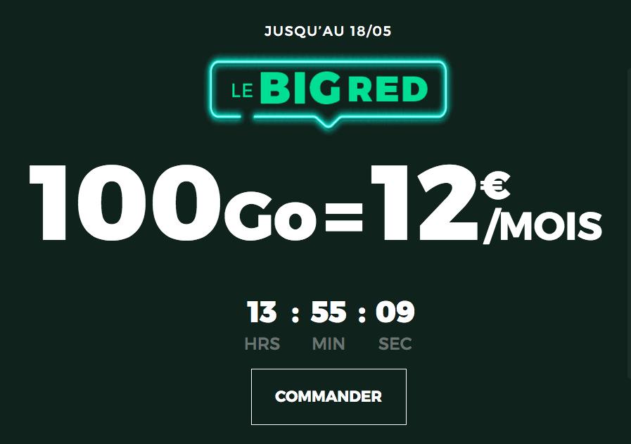 Le forfait BIG RED 100 Go