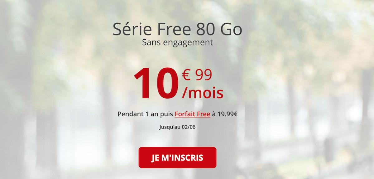 80 Go à 10,99€/mois avec la série spéciale Free mobile