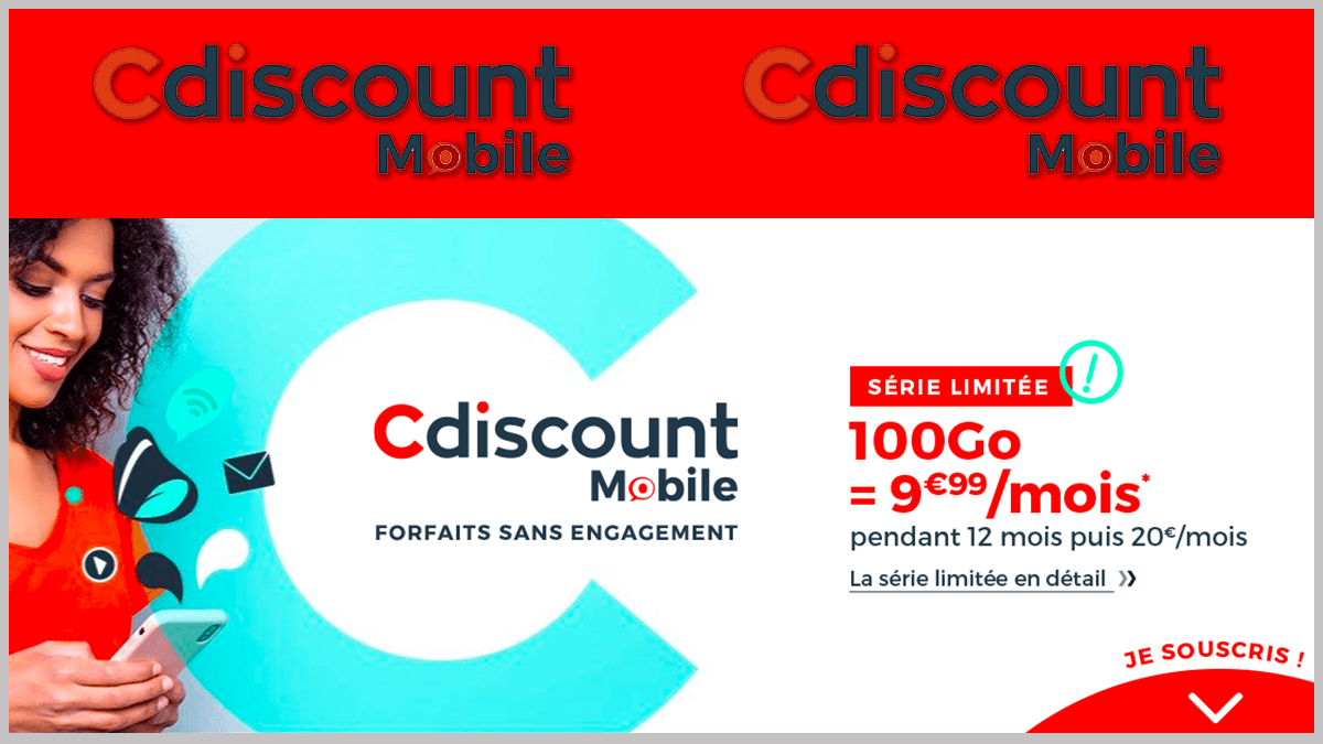 Cdiscount Mobile en promo