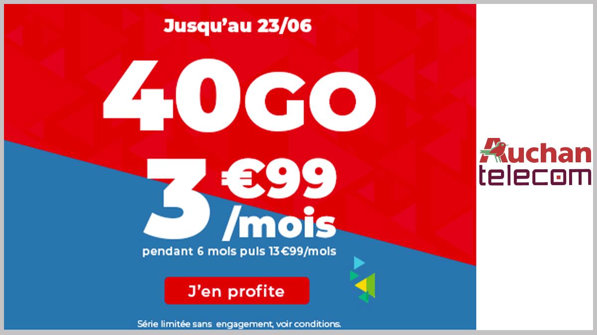 40 Go sans engagement Auchan Telecom