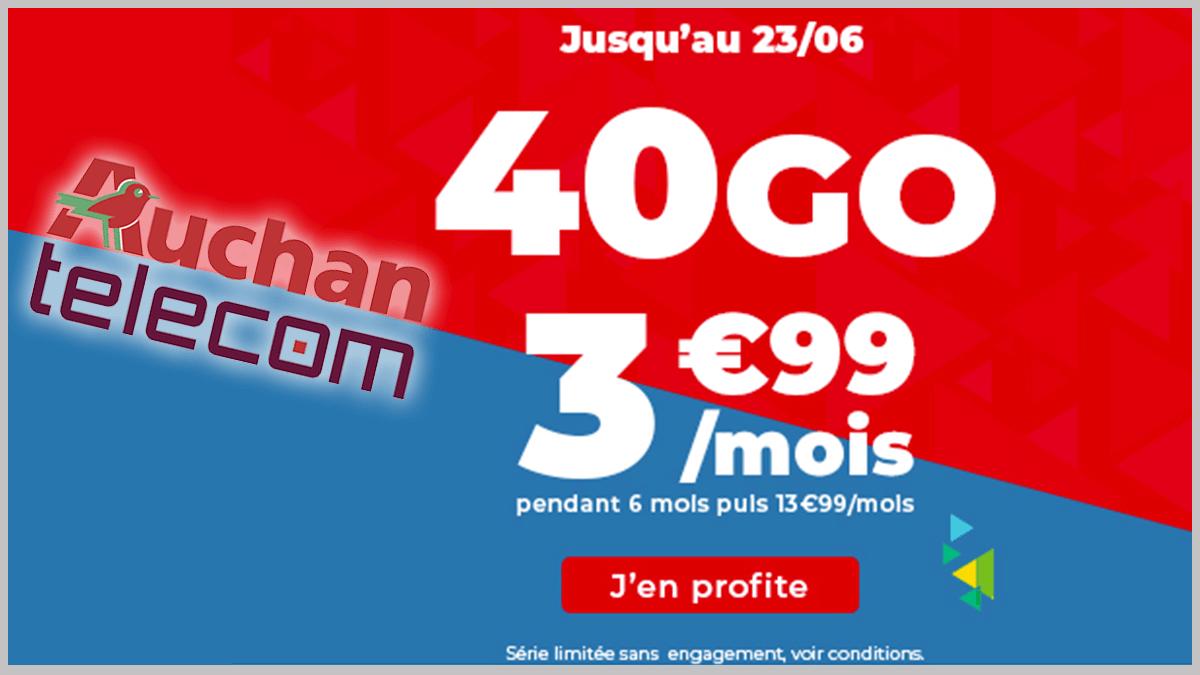 Auchan Telecom en promo