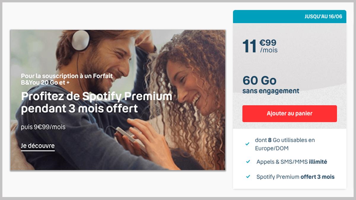 B&YOU et Spotify Premium
