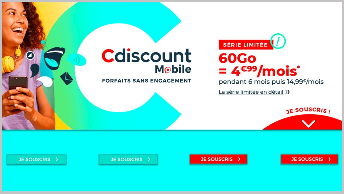 Cdiscount Mobile à 4,99€/mois