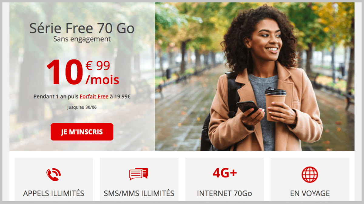 Free mobile 70 Go en promo
