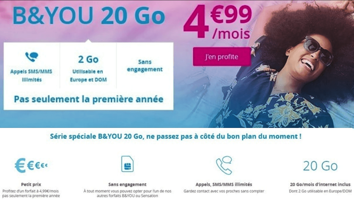 Bouygues Telecom has decided to increase its low-cost plan from € 4.99 to € 8.99.