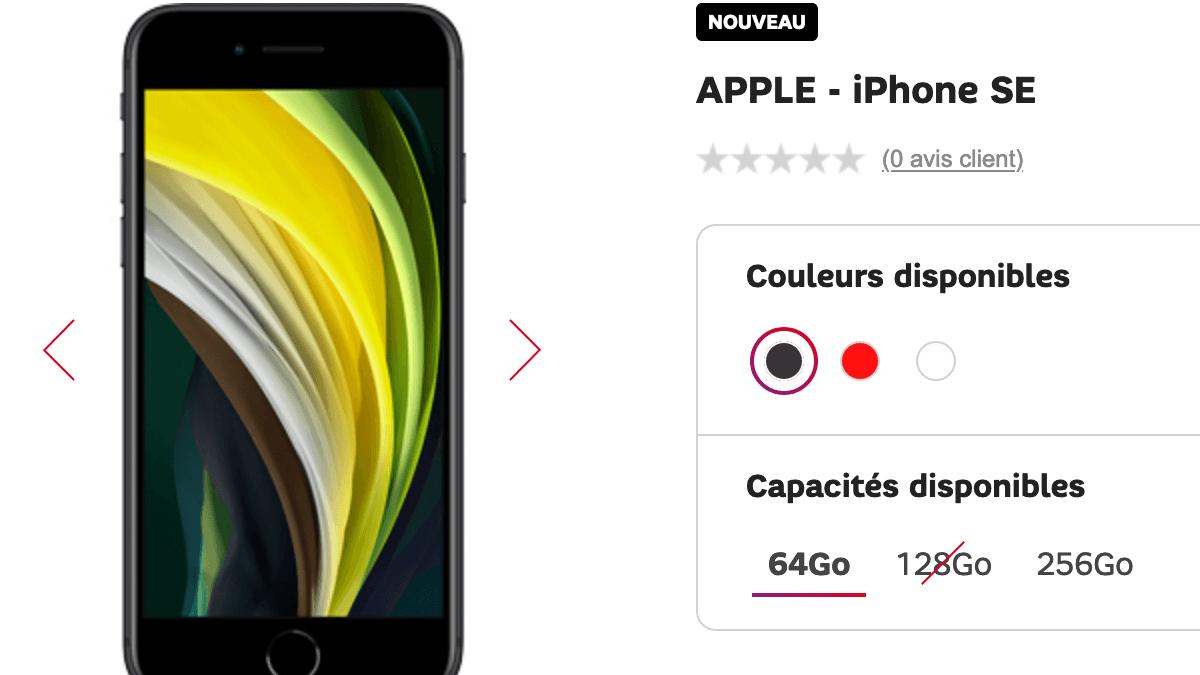 l'iPhone SE accessible à 73€ avec le forfait 100 Go de SFR.