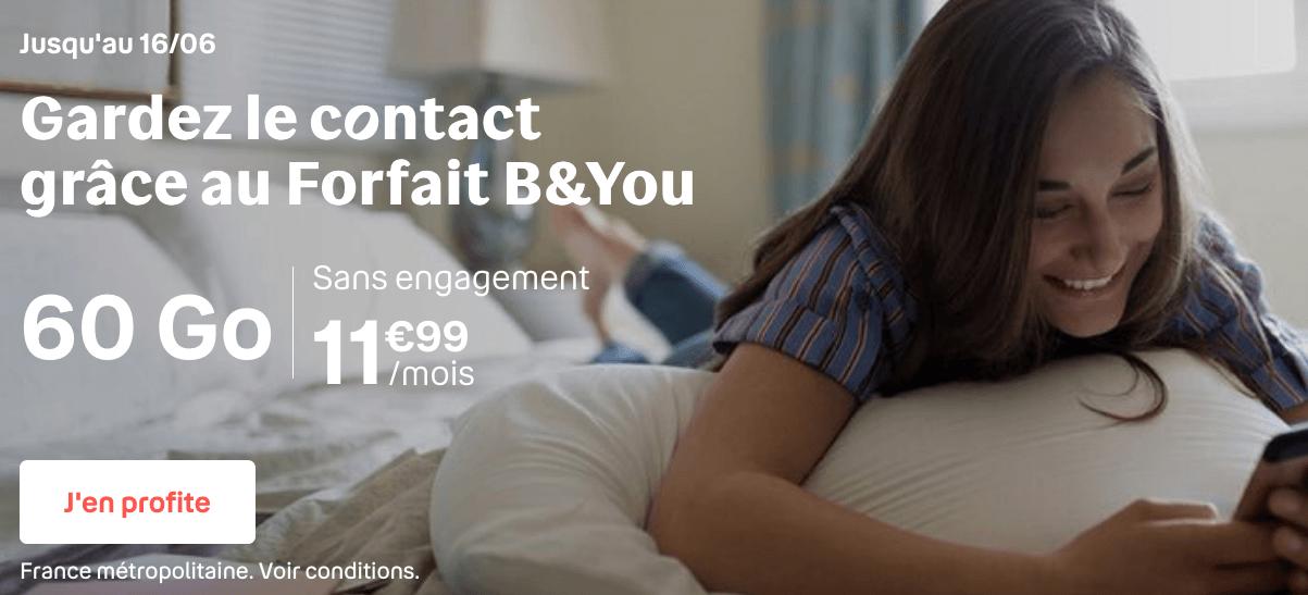 Le forfait 60 Go de B&YOU