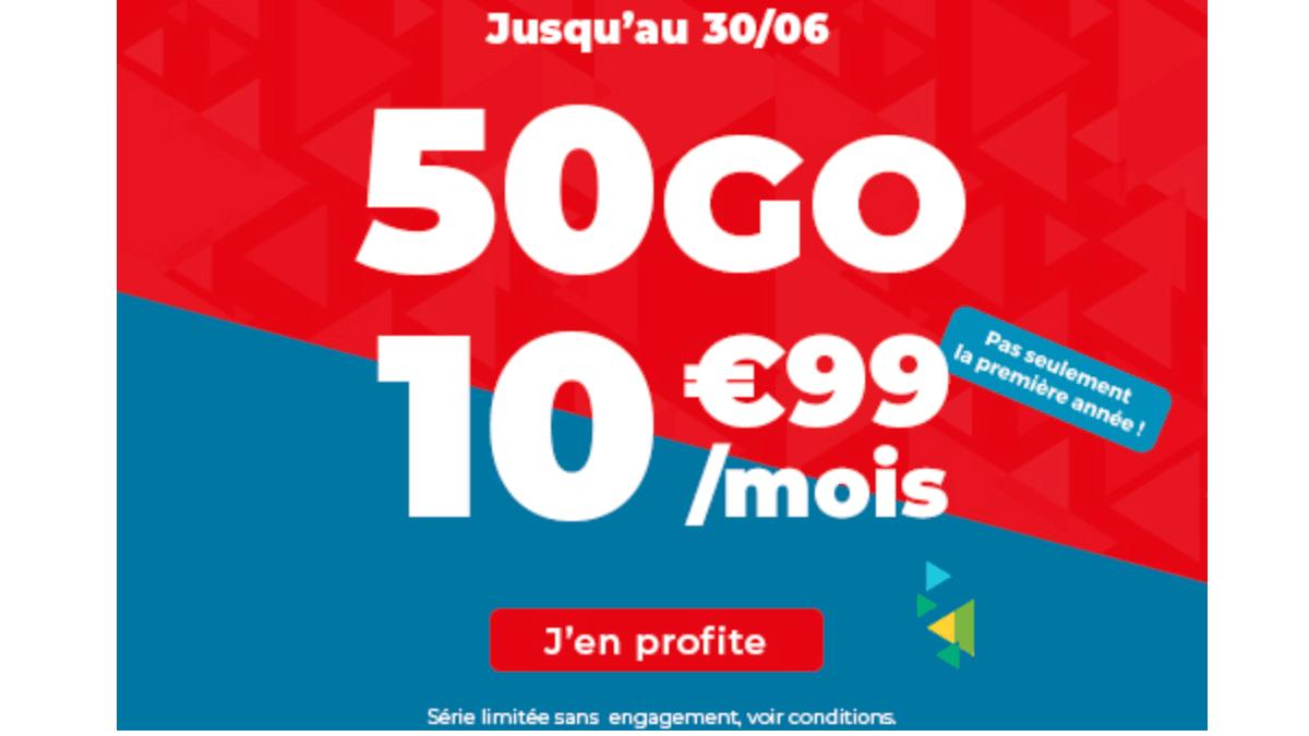 Le forfait mobile Auchan.