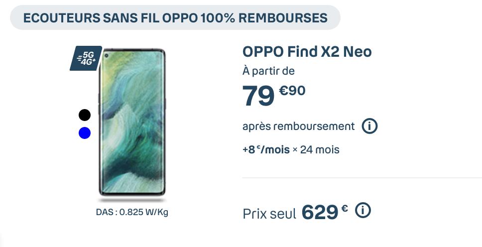 Oppo Find Xé Neo à 80€ avec Bouygues Telecom