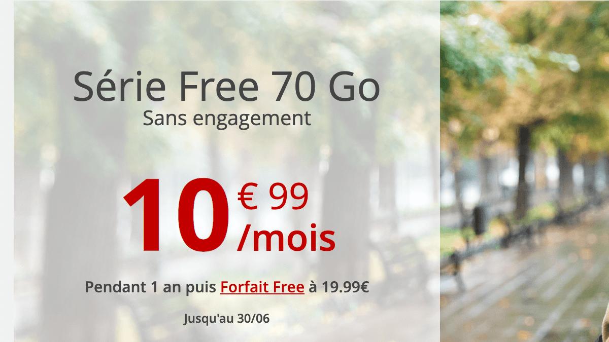 La série Free à 10,99€ par mois. Une offre mobile très complète