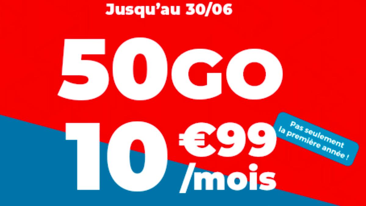Le forfait pas cher de Auchan Telecom : 10,99€ par mois, sans engagement.