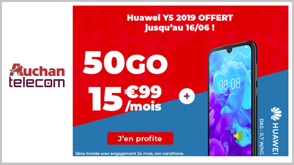 50 Go et Huawei avec Auchan Telecom.