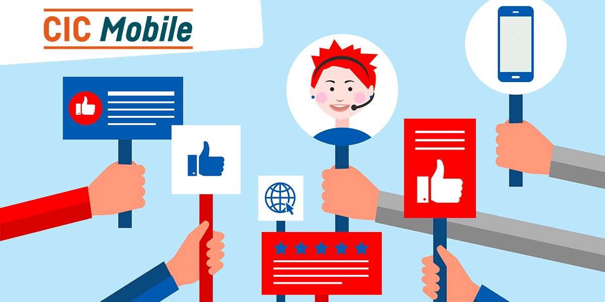 Les retours des clients CIC Mobile