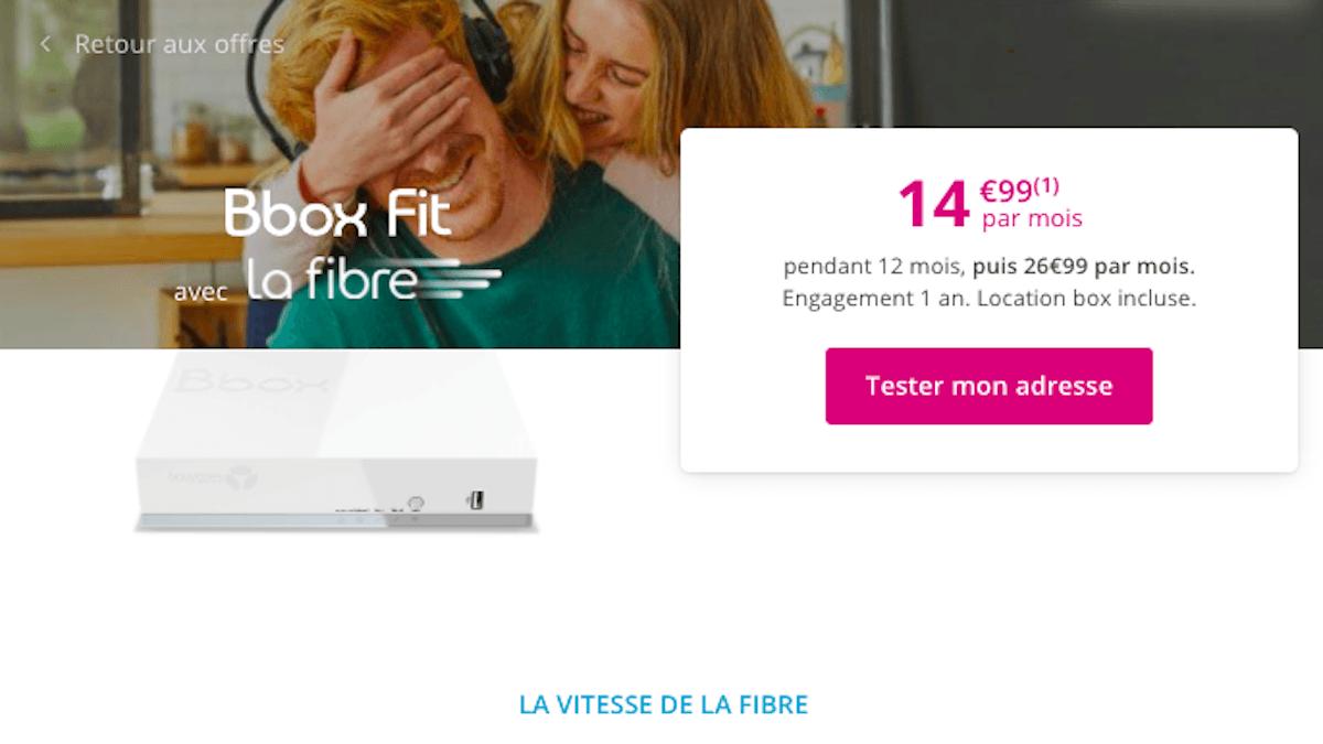 box internet Bbox Fit à 15€