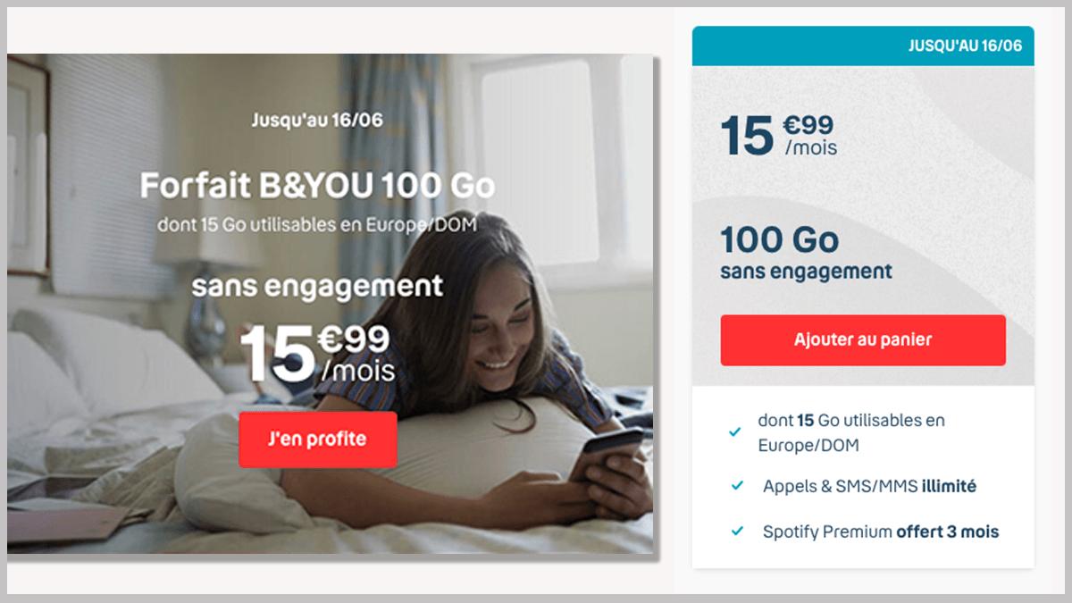 100 Go en promotion avec B&YOU
