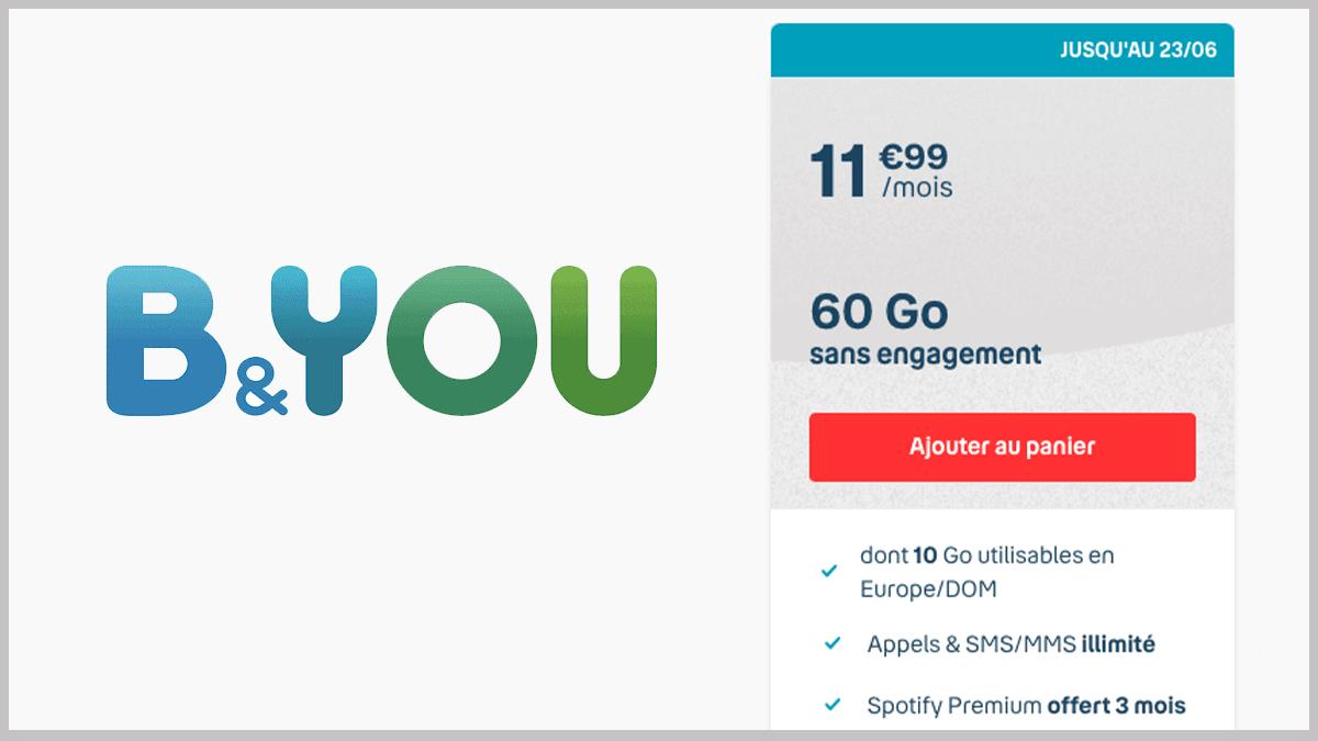 Forfait 60 Go à 11,99€/mois