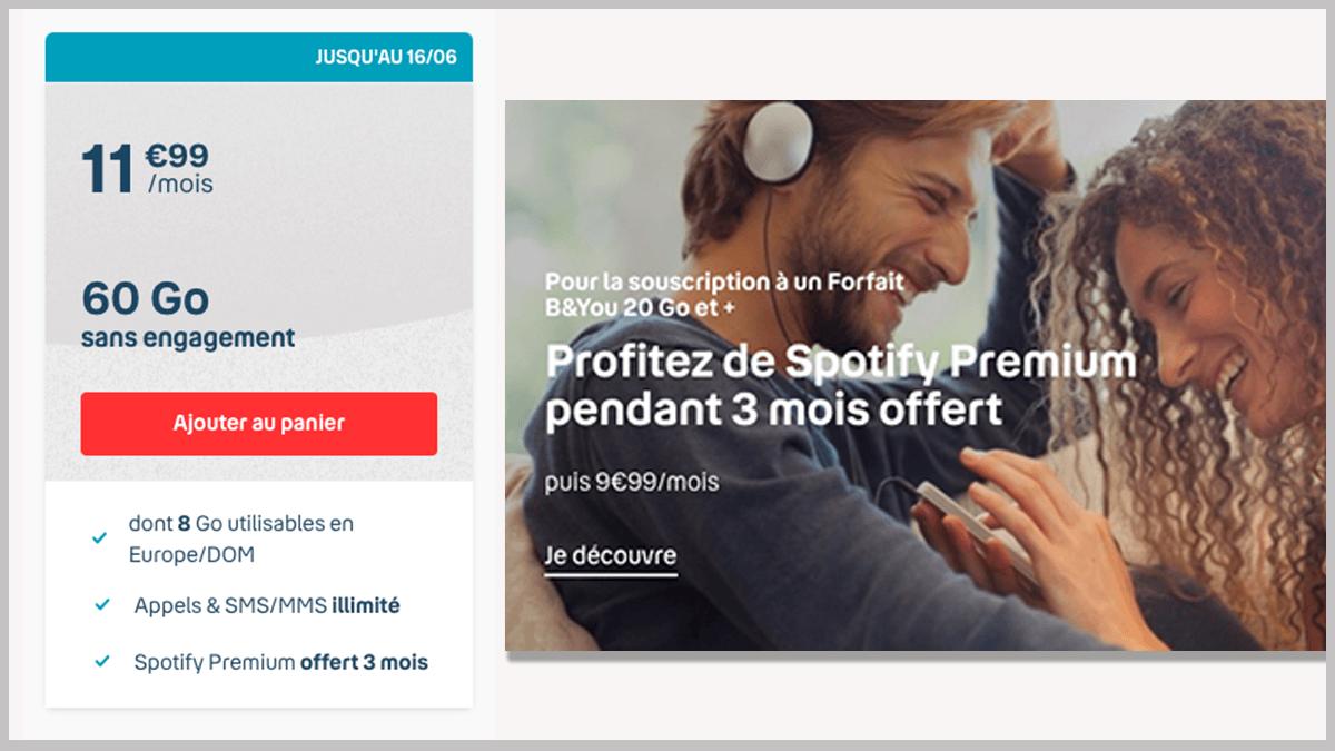 60 Go avec Spotify Premium.
