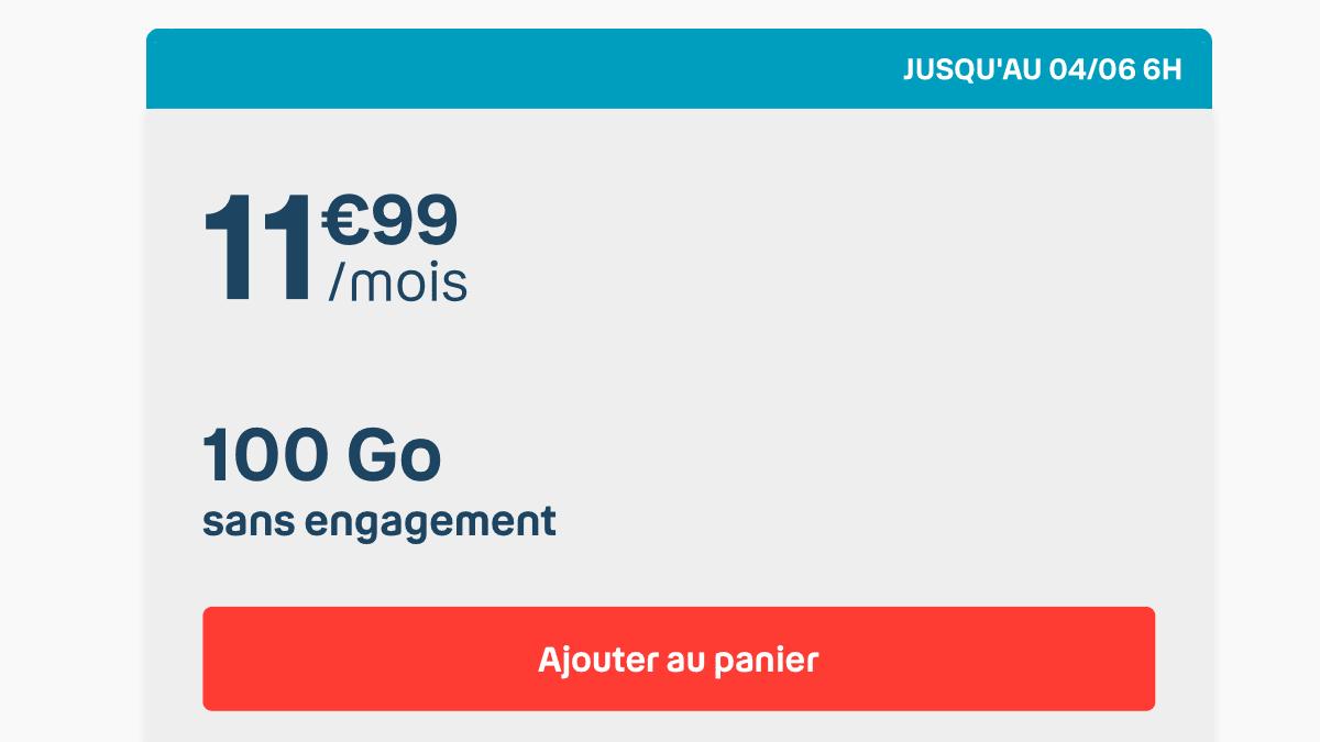 Le forfait 100 Go de B&YOU : une offre disponible jusqu'à demain.