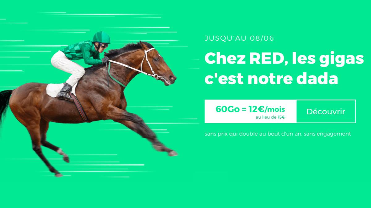 RED by SFR : un forfait 4G et sans engagement à 12€ par mois.