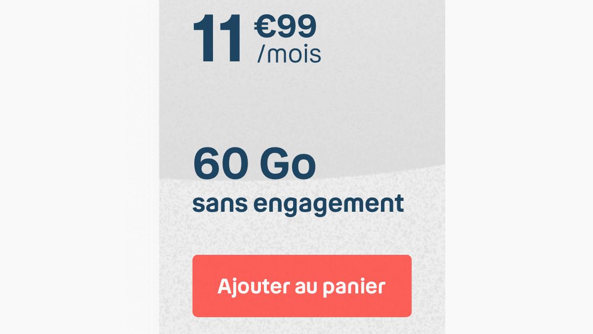 Le forfait 4G de B&YOU est disponible à 11,99€/mois.