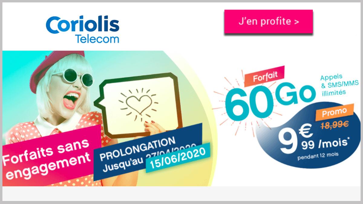 Coriolis Télécom avec 60 Go et appels illimités