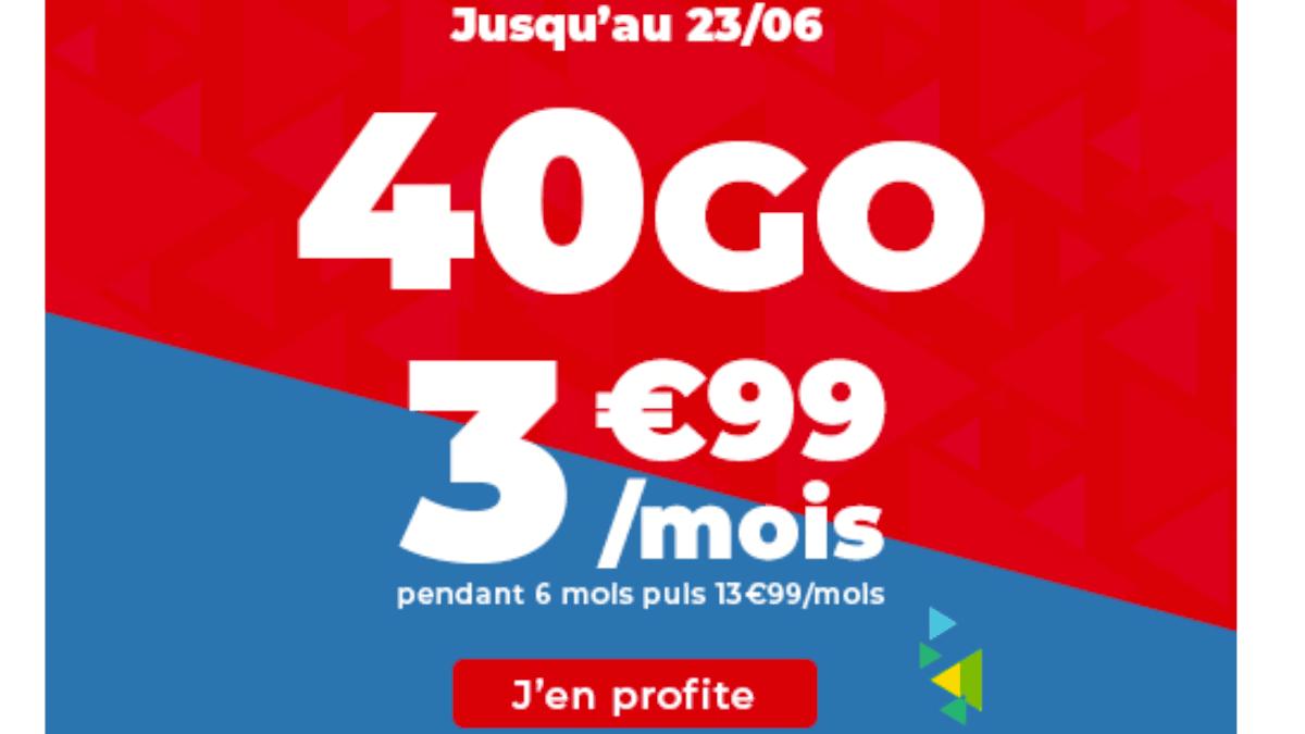 Auchan Telecom : une offre en promo à 3,99€ par mois.