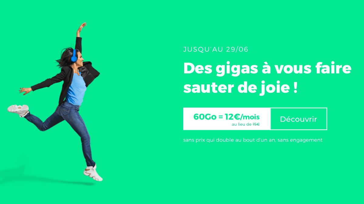 12€ par mois : le forfait pas cher de RED by SFR est en promo.