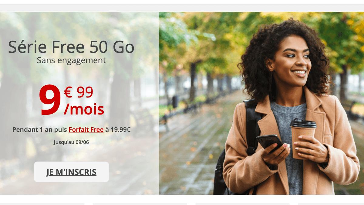 La Série Free de Free mobile : sans engagement et à moins de 10€/mois.